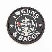 Нашивка 3D-Patch JTG Guns and Bacon SWAT