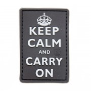 Нашивка 3D-Patch Keep Calm and Carry